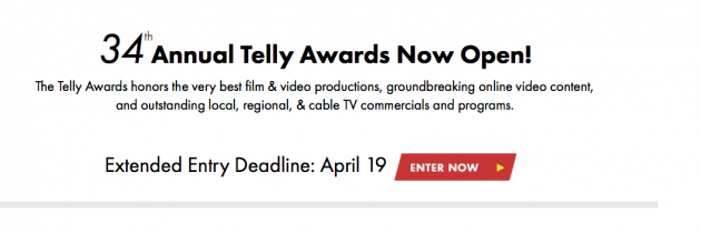 THE TELLY AWARDS ENTRY– It's Not Too Late!